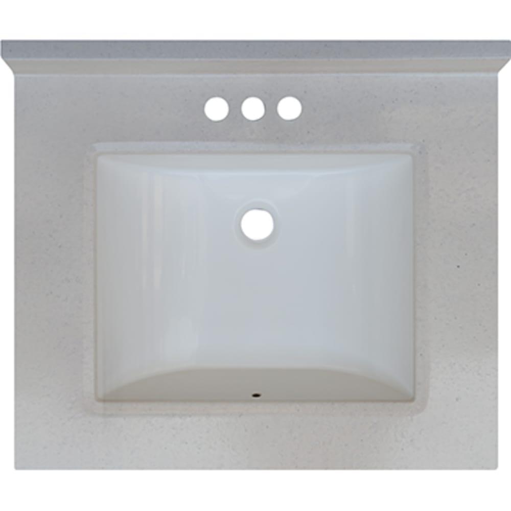 5020710 Snow Drift 25x22 Engineered Stone Granite Finish Vanity Top