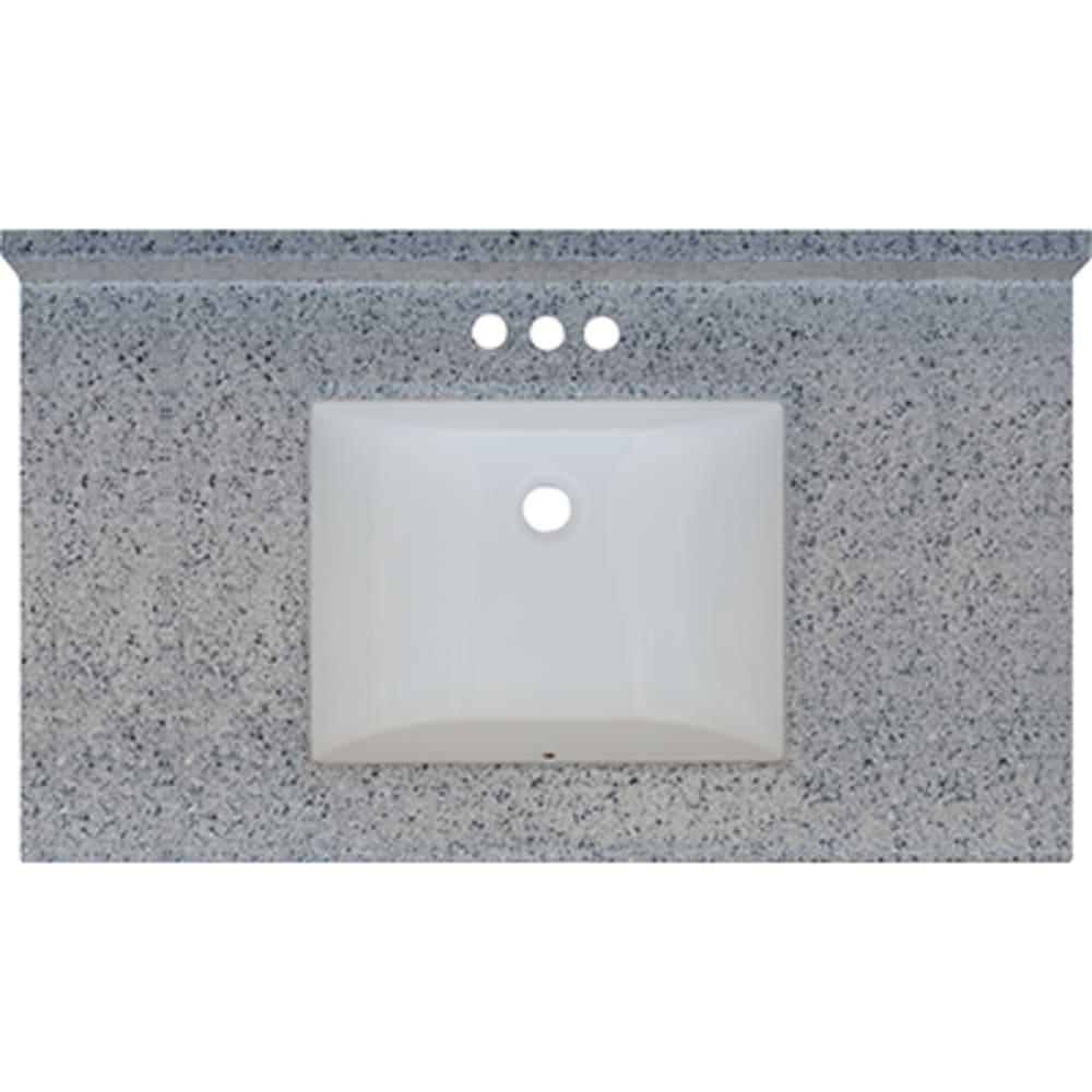 5020718 Moonscape 37x22 Engineered Stone Granite Finish Vanity Top