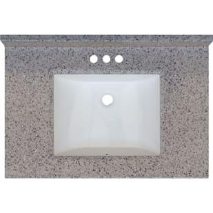 5020699 Rocky Trail 31x22 Engineered Stone Granite Finish Vanity Top