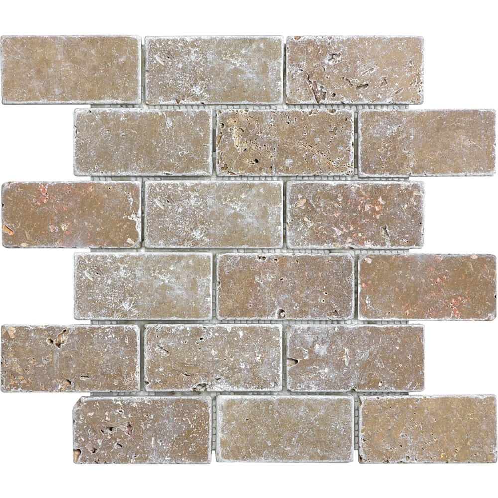 "Mosaic 12""x12"" Noce Travertine Tile"
