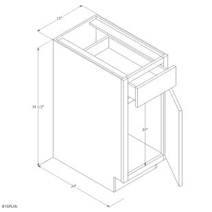 "Unfinished Oak 15"" Base Cabinet"