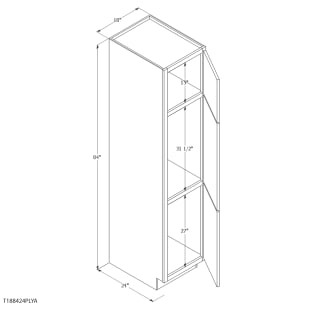 "Unfinished Oak 18"" Pantry Cabinet"