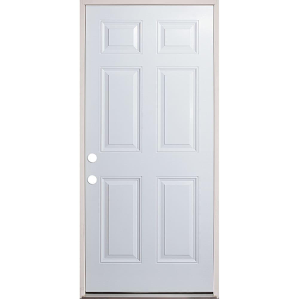 45320131 32 Raised Panel Prehung Exterior Fiberglass Door Unit Right Hand