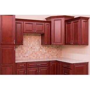 North Timber Savannah Merlot Kitchen Cabinets