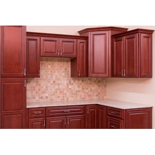 North Timber Savannah Merlot Kitchen Cabinets
