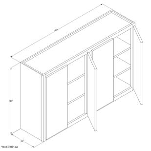 "Unfinished Oak 48""x30"" Wall Cabinet"