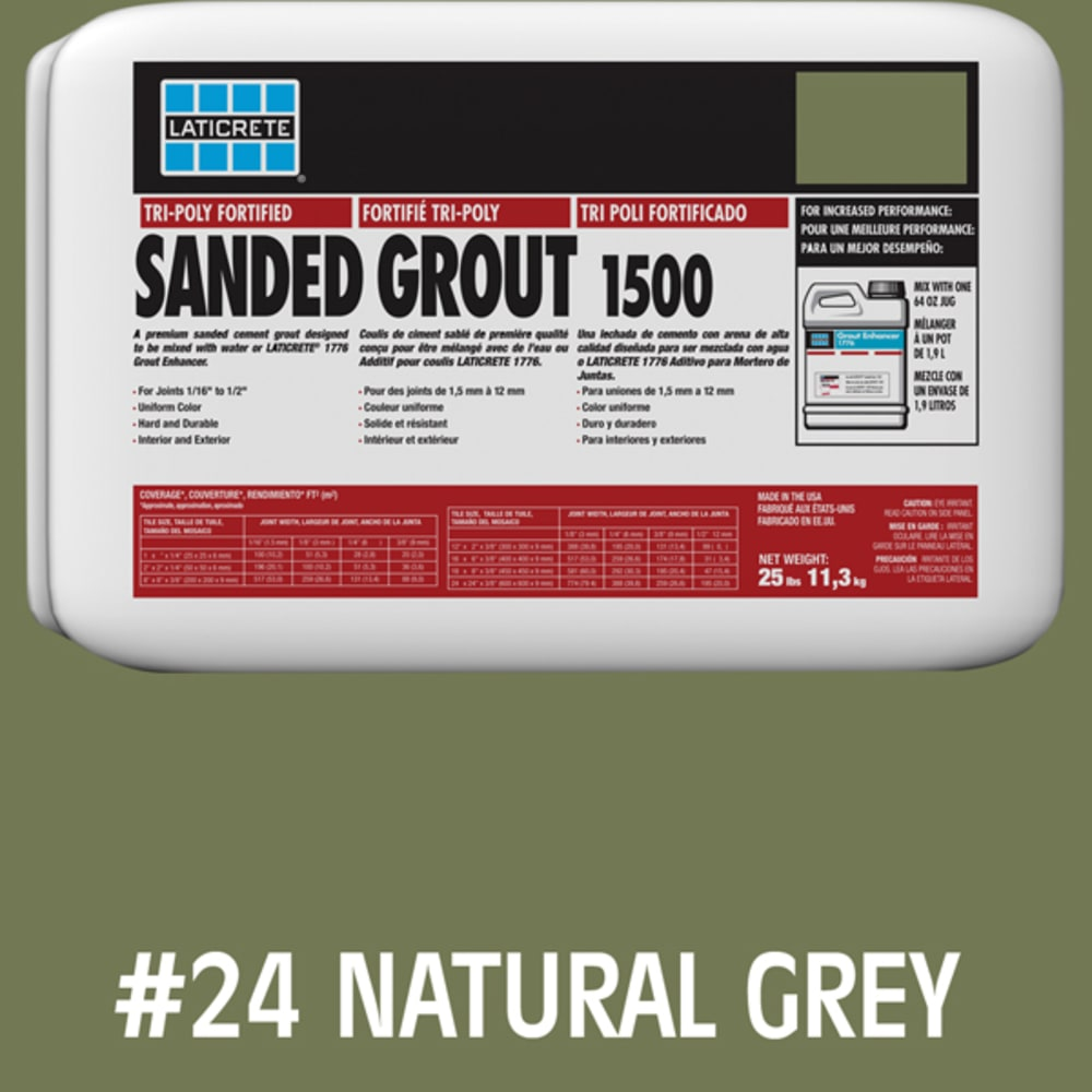 Laticrete Sanded Tile Grout Natural Grey