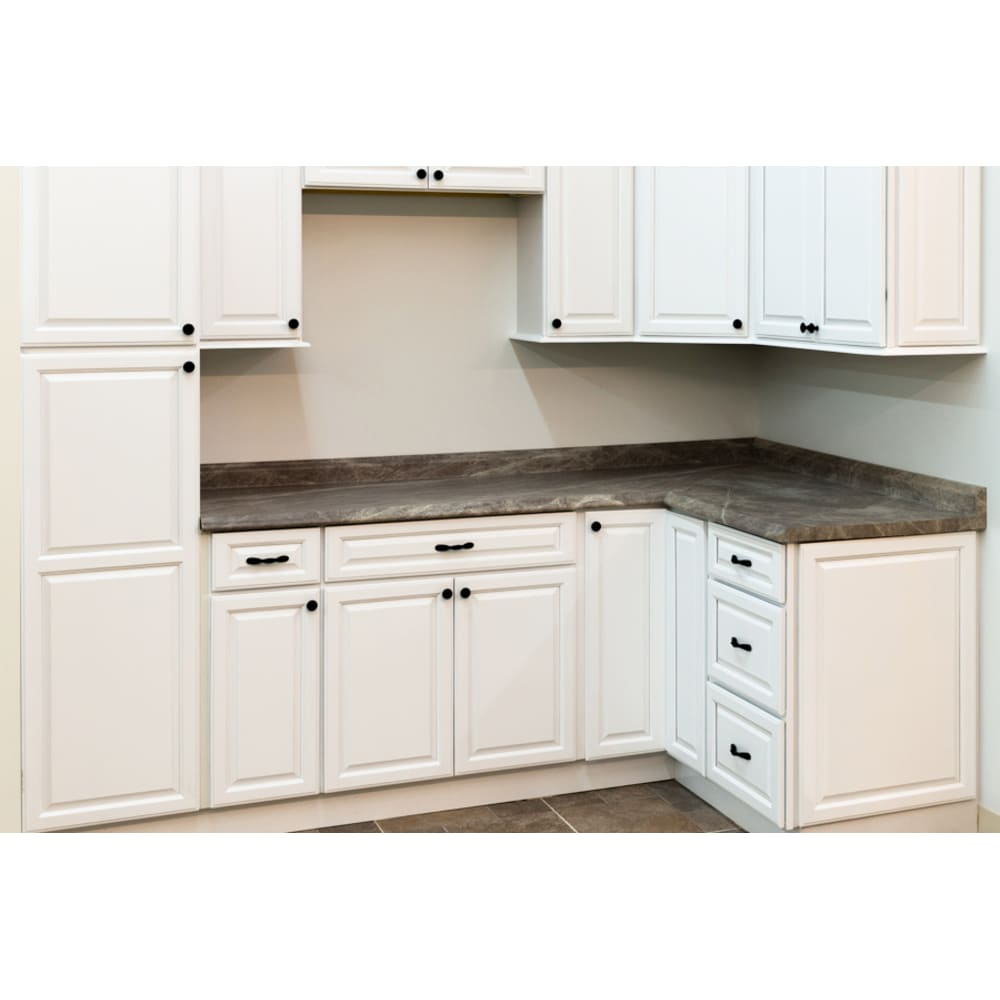 North Timber Harbor White Kitchen Cabinets