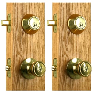 Newgard Tulip Polished Brass Entry Combo Knob 2-pack