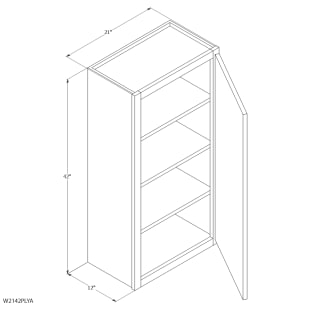 "Unfinished Oak 21""x42"" Wall Cabinet"