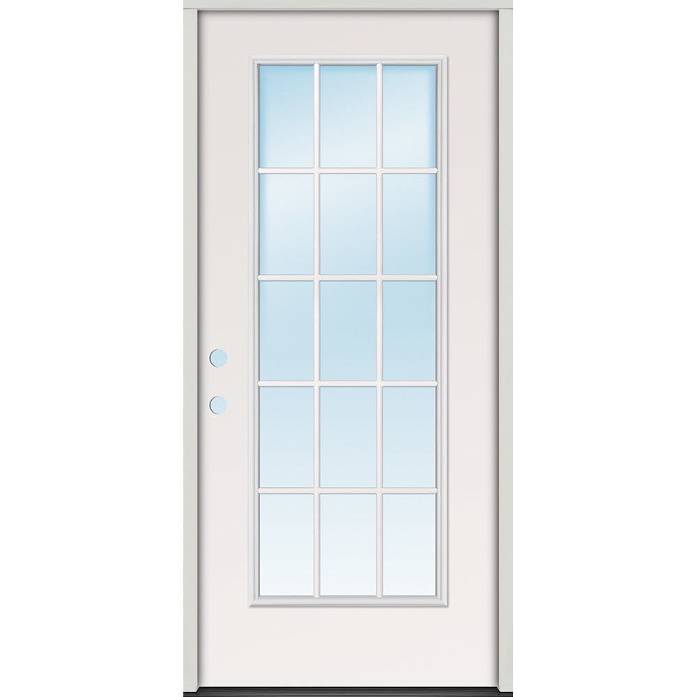 45320081 32 15 Lite Prehung Exterior Steel Door Unit  Right Hand