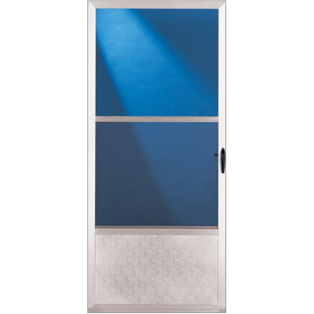 """32"""" Self-Storing Aluminum Storm Door"""
