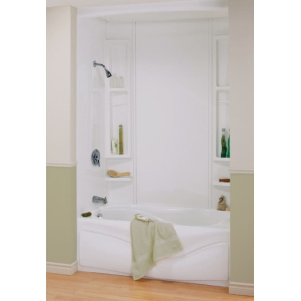 """Maax Finesse 80"""" White Tub Wall & Shower Surround"""