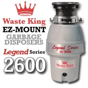 Waste King Legend Series 2600 1/2 Hp Garbage Disposer