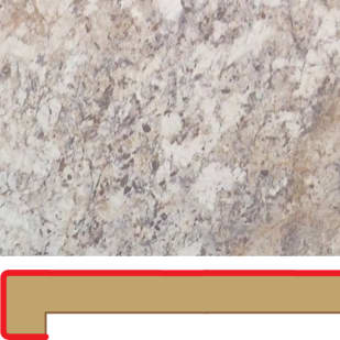 50160122 Spring Carnival 6  039  Post Formed Laminate Counter Top Mitred Left
