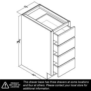 """Unfinished Oak 15"""" Drawer Base Cabinet"""