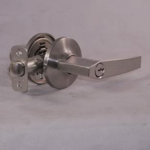 Flat Satin Nickel Entry Lever Lock