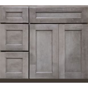 5025204 Heritage Smokey Gray 36 LH Vanity with Drawers