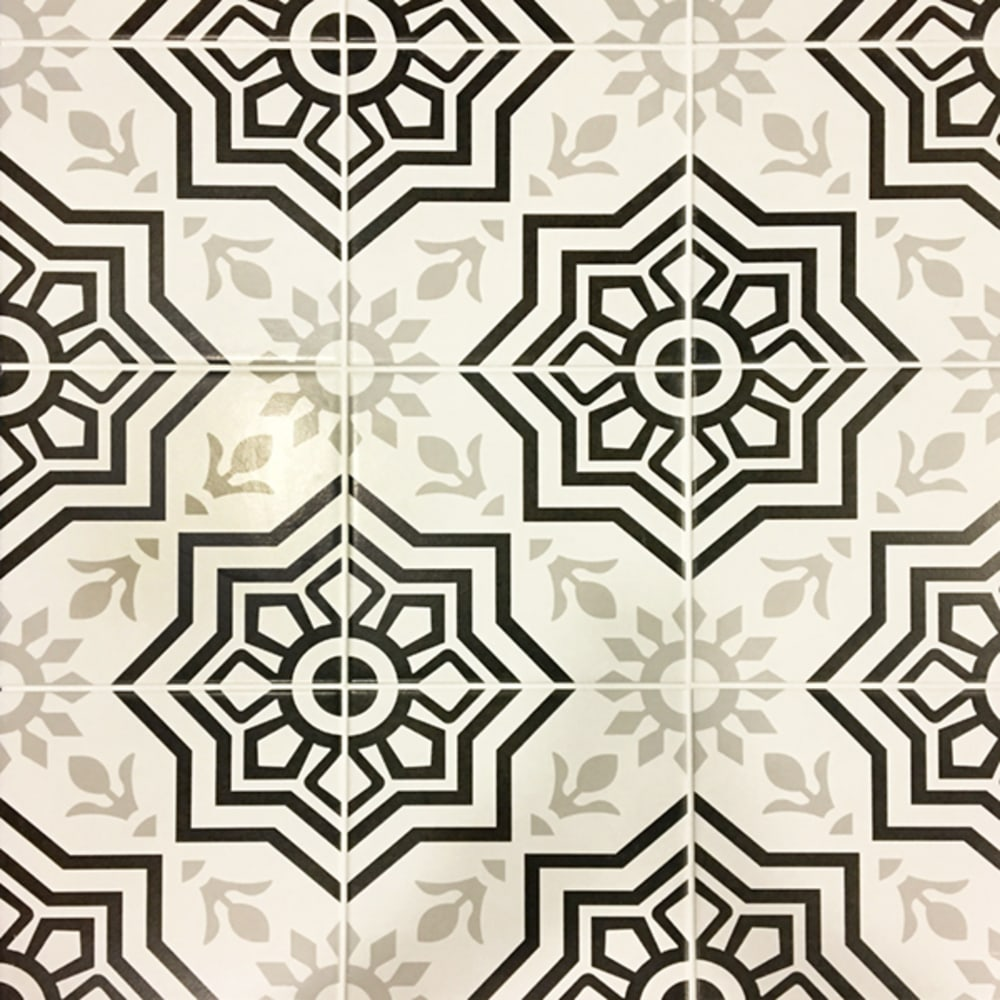 5534857 Tiffany Black 8 X 8 Porcelain Tile