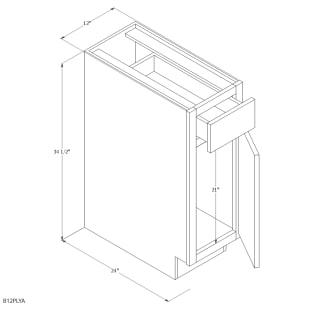 "Unfinished Oak 12"" Base Cabinet"