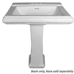 Rio White Rectangular Pedestal Bathroom Sink