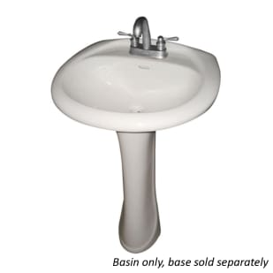 Potomac White Porcelain Pedestal Bathroom Sink