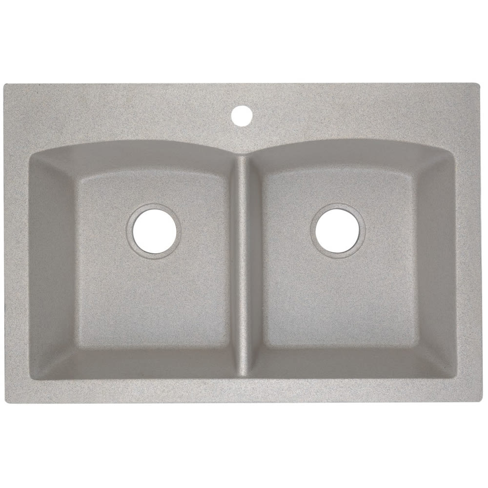 8037022 Dual Mount Granite Composite Kitchen Sink  50 50  Sand