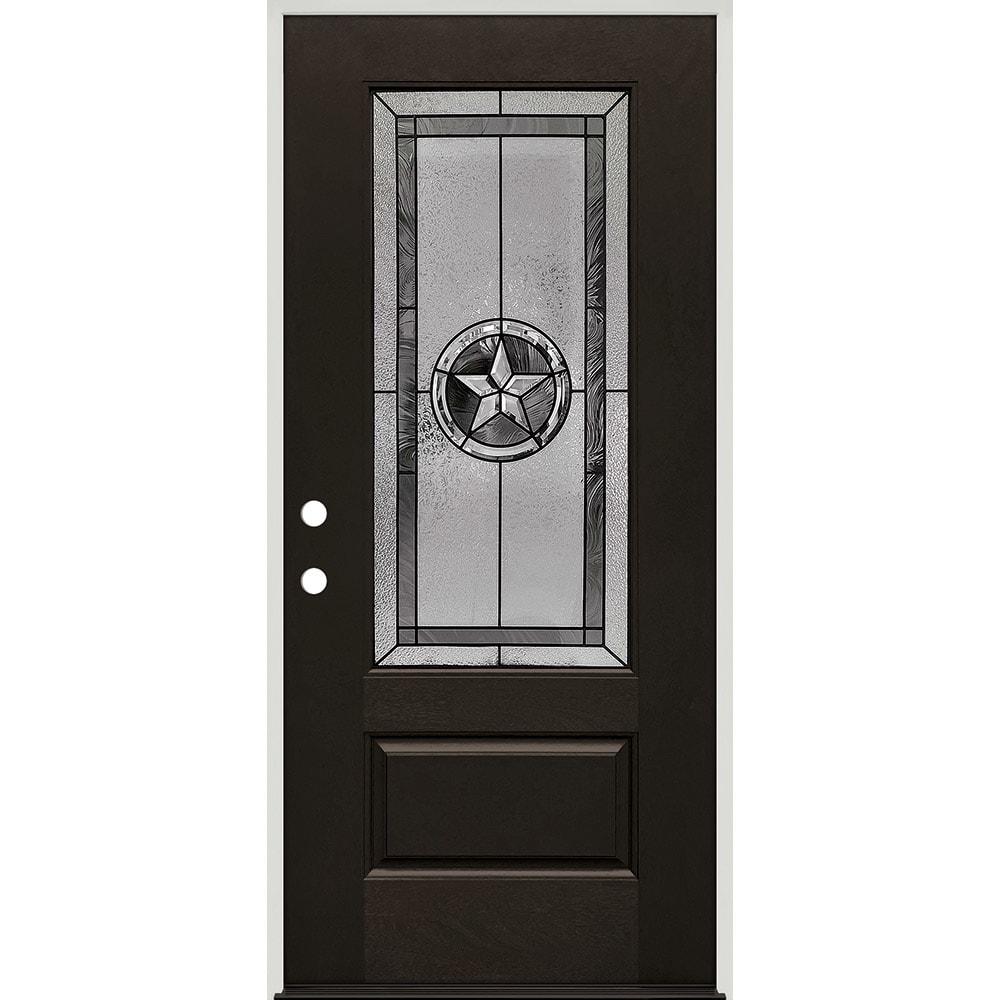 45320037 36 Prefinished  Prehung Fiberglass Exterior Door Unit  Right Hand