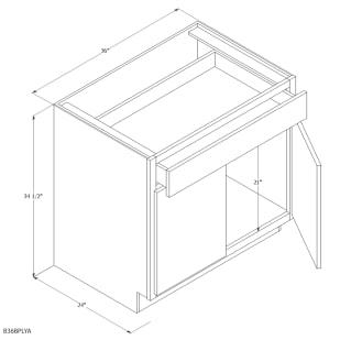 "Unfinished Oak 36"" Base Cabinet"