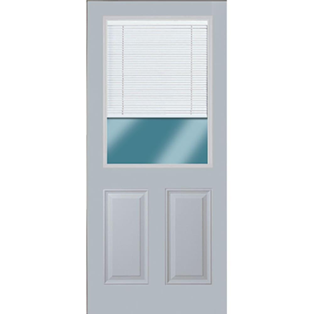 45320099 36 1 2 Lite Exterior Steel Door Unit with Mini Blinds Between the Glass  Right Hand