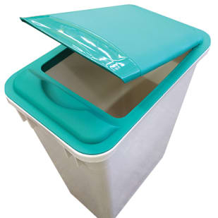 5049017 Trash Can Lid  Green  Lid only