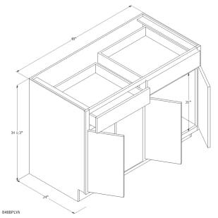 "Unfinished Oak 48"" Base Cabinet"