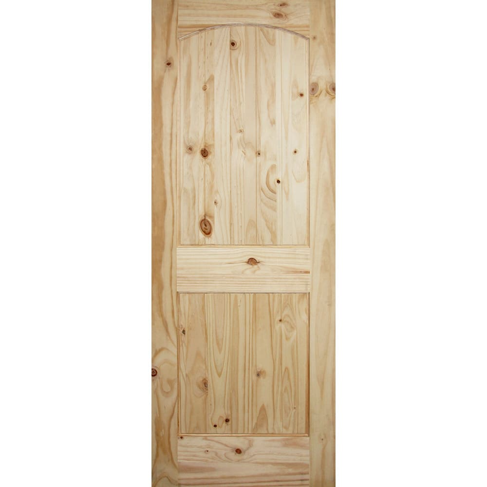 "Arch Top Knotty Pine 32"" Interior Door Slab"
