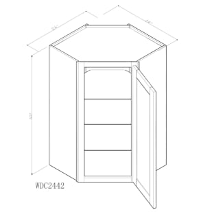 "GHI Arcadia White Shaker 24"" x 42"" Wall Cabinet Drawing"