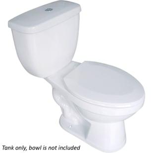 Saranac White .8GPF/1.6GPF Toilet Tank