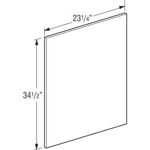 """Unfinished Oak Cabinet 34.5"""" Base End Panel"""