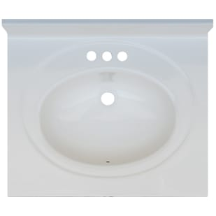 5020692 Solid White 25x22 Engineered Stone Vanity Top