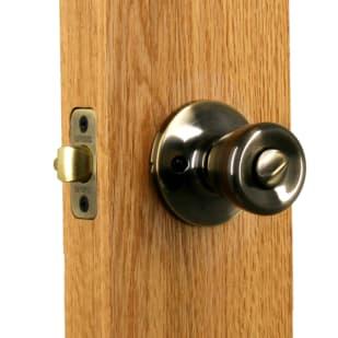 Privacy Tulip Lockset Antique Brass