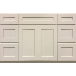 5053004 Heritage Shaker White 48 Vanity With Drawers