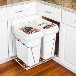 5049020 Pullout Trash Bin System for 18 Base Cabinet  Double