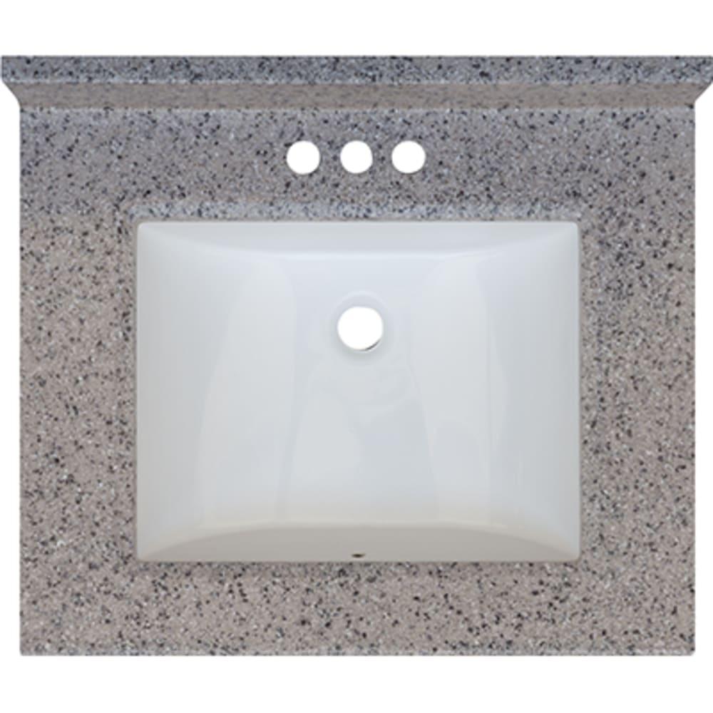 5020698 Rocky Trail 25x22 Engineered Stone Granite Finish Vanity Top