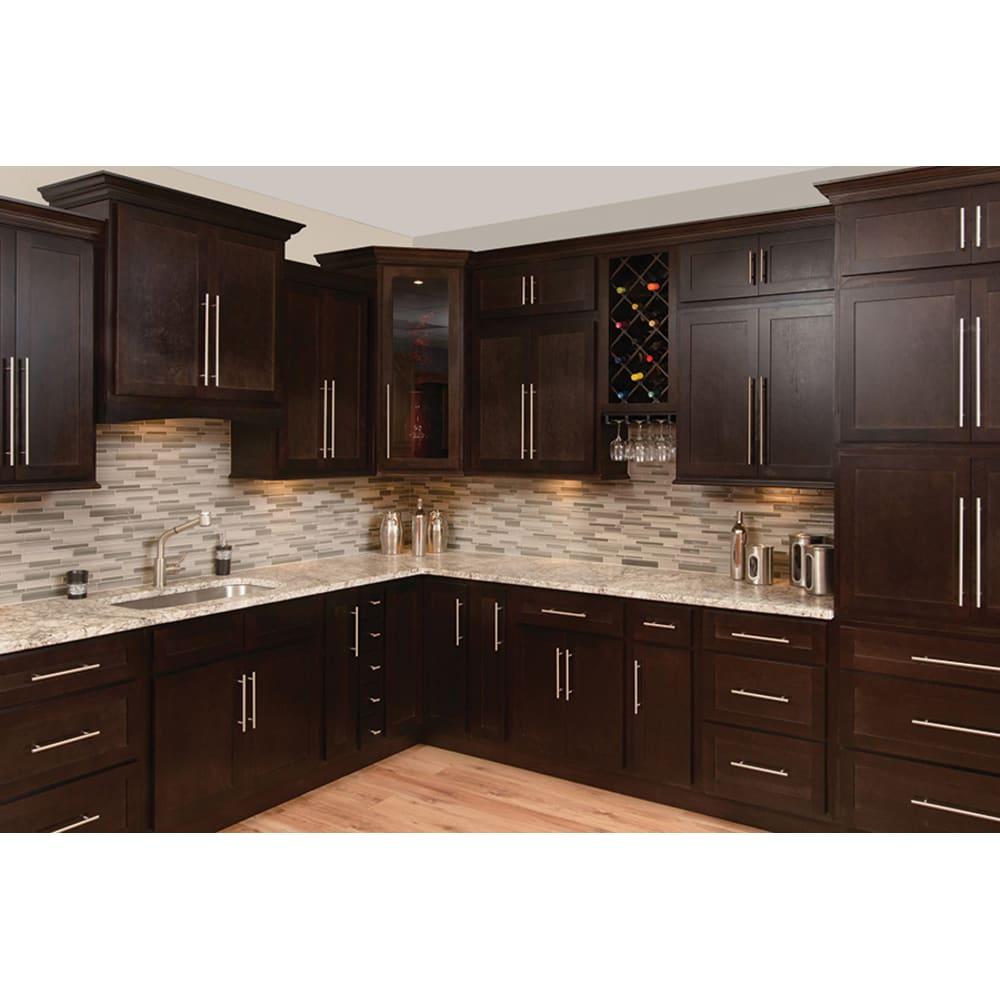 Faircrest Espresso Shaker Kitchen Cabinets