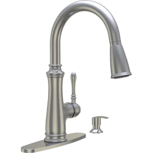 8021071 Brushed Nickel Lever Hi Arc Pulldown Kitchen Faucet w  Soap Dispenser