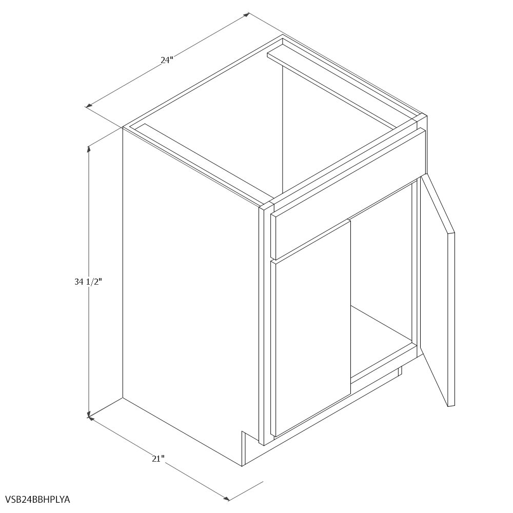 Unfinished Oak 24 Sink Vanity Base Home Outlet