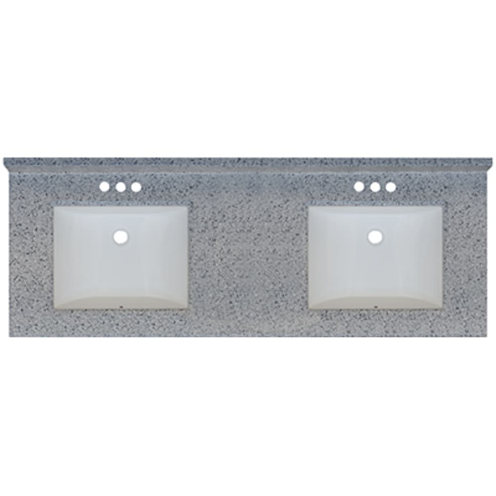 5020720 Moonscape 61x22 Engineered Stone Granite Finish Vanity Top