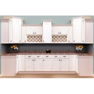 Faircrest White Shaker Kitchen Cabinets