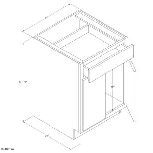"Unfinished Oak 24"" Base Cabinet"