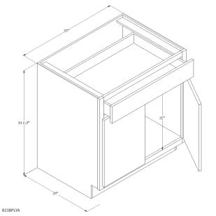 "Unfinished Oak 33"" Base Cabinet"