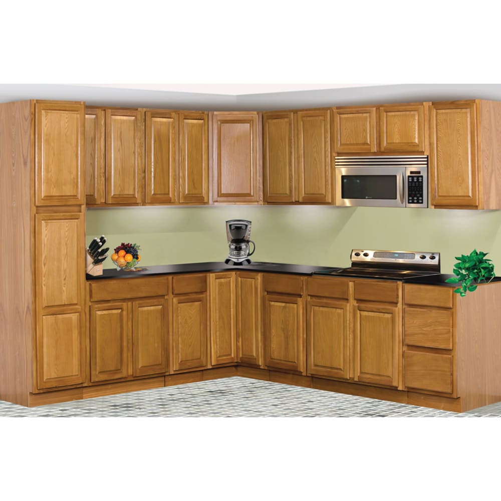 Kitchen with GHI Regal Oak Cabinets