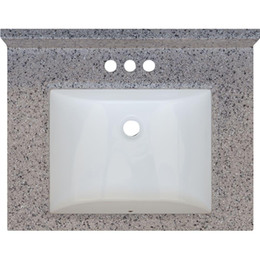 5020697 Rocky Trail 25x19 Engineered Stone Granite Finish Vanity Top